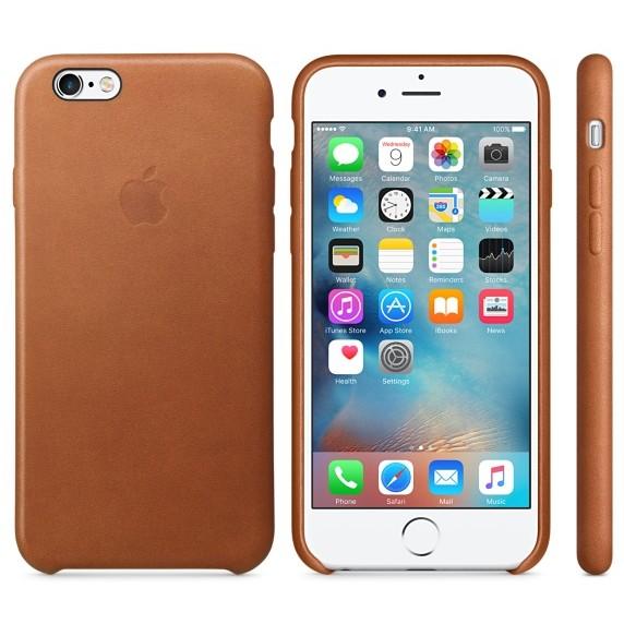 Husa Protectie Spate Leather Case Saddle Brown Pentru Iphone 6s Plus