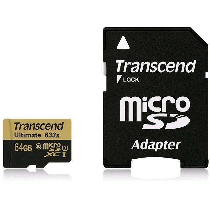 Card Microsdxc Ultimate 64gb Class 10 Uhs-i U3 633x Cu Adaptor Sd