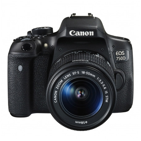 Aparat Foto Dslr Eos 750d 24.2 Mpx Kit Ef-s 18-55mm F/3.5-5.6 Is Stm