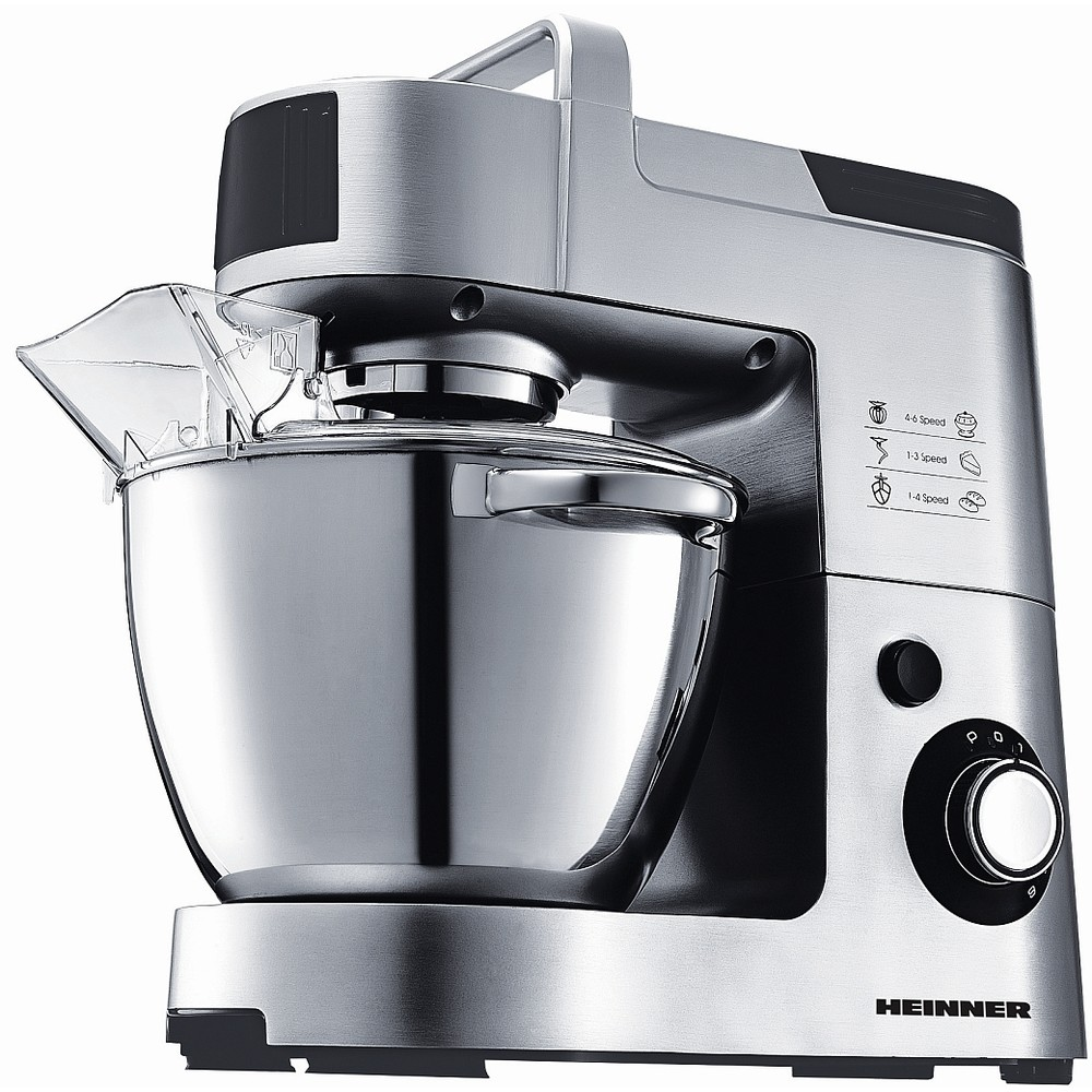 Mixer cu bol HPM-1500XMC 6 viteze 1500W Argintiu/Negru thumbnail