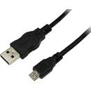 CU0058 USB 2.0 Male tip A - microUSB 2.0 Male tip B 1m negru