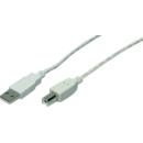 CU0009 USB 2.0 A Male - USB 2.0 B Male 5m gri