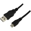 CU0034 USB 2.0 A Male - Micro USB 2.0 B Male 1.8 m negru
