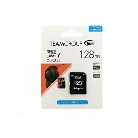 Card de memorie microSDXC 128GB Clasa 10 cu adaptor SD thumbnail