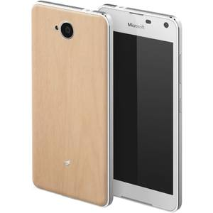 Husa protectie Mozo Wood Bej pentru Lumia 650