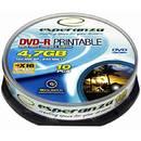 DVD-R 4.7GB 16x 10 bucati printabil