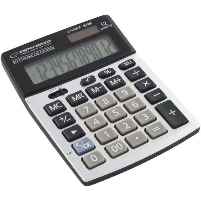 Calculator de birou ECL102 Newton 12 cifre gri / negru thumbnail