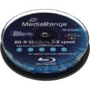 Mediu optic MediaRange BD-R DL 50GB 6x 10 bucati Printabil