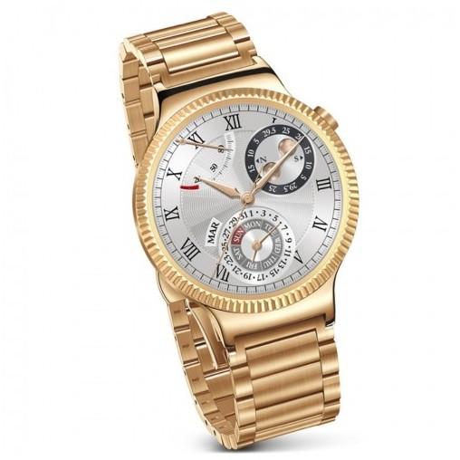 Smartwatch Watch W1 Steel Gold 42mm Gold Link Strap