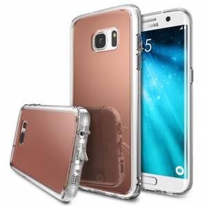 Husa Protectie Spate Ringke Mirror Rose Gold pentru Samsung Galaxy S7 Edge