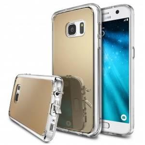 Husa Protectie Spate Ringke Mirror Royal Gold plus folie protectie pentru Samsung Galaxy S7