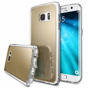 Husa Protectie Spate Ringke Mirror Silver plus folie protectie pentru Samsung Galaxy S7