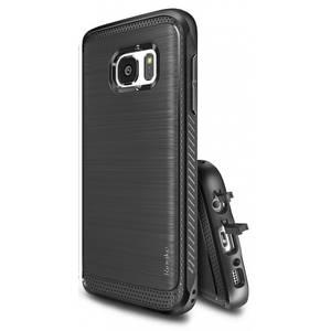 Husa Protectie Spate Ringke Onyx Black plus folie protectie pentru Samsung Galaxy S7