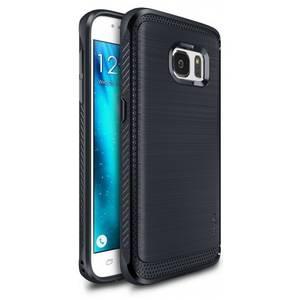 Husa Protectie Spate Ringke Onyx Midnight Blue plus folie protectie pentru Samsung Galaxy S7
