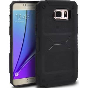 Husa Protectie Spate Ringke Rebel Black plus folie protectie pentru Samsung Galaxy Note 5