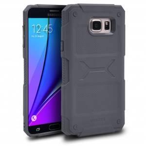 Husa Protectie Spate Ringke Rebel Grey plus folie protectie pentru Samsung Galaxy Note 5