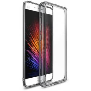Husa Protectie Spate Ringke Fusion Smoke Black plus folie protectie pentru Xiaomi Mi 5