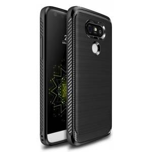 Husa Protectie Spate Ringke Onyx Black plus folie protectie pentru LG G5