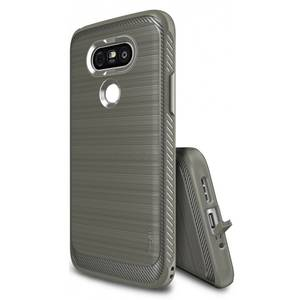 Husa Protectie Spate Ringke Onyx Mist Grey plus folie protectie pentru LG G5