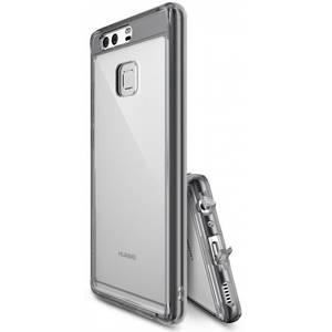 Husa Protectie Spate Ringke Fusion Smoke Black plus folie protectie pentru Huawei P9