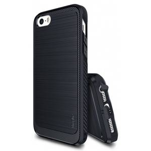 Husa Protectie Spate Ringke Onyx Midnight Navy plus folie protectie pentru Apple iPhone 5 / 5S / SE