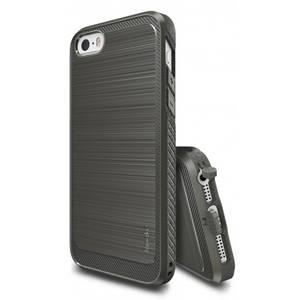 Husa Protectie Spate Ringke Onyx Mist Grey plus folie protectie pentru Apple iPhone 5 / 5S / SE
