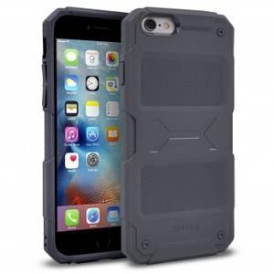 Husa Protectie Spate Ringke Rebel Grey plus folie protectie pentru Apple iPhone 6 / 6S