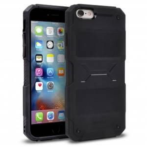 Husa Protectie Spate Ringke Rebel Black plus folie protectie pentru Apple iPhone 6 / 6S