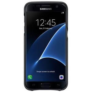 Husa Protectie Spate Leather Cover Black pentru Samsung Galaxy S7 G930