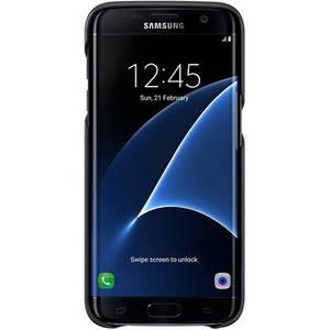 Husa Protectie Spate Leather Cover Black pentru Samsung Galaxy S7 Edge G935
