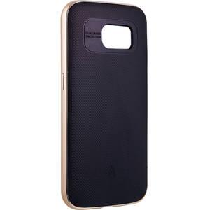 Husa Protectie Spate Anymode FA00008KGD Metal Bumper Plus Gold pentru Samsung Galaxy S6