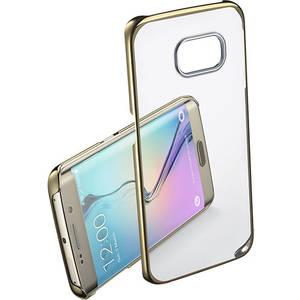 Husa Protectie Spate Cellular Line CLEARCRYGALS6EH Crystal Rigid Gold pentru Samsung Galaxy S6 Edge