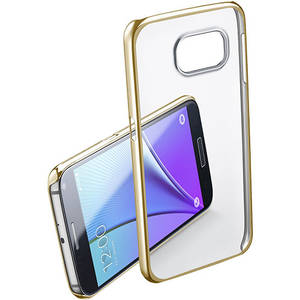 Husa Protectie Spate Cellular Line CLEARCRYGALS7H Crystal Rigid Gold pentru Samsung Galaxy S7
