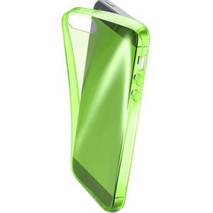 Husa Protectie Spate Cellular Line FLUOCASEIPH5G Fluo Green pentru Apple iPhone SE