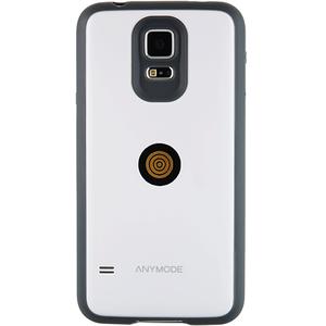 Husa Protectie Spate Anymode cu Incarcare Magnetica Alb pentru Samsung Galaxy S5