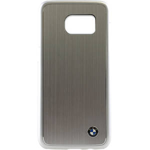 Husa Protectie Spate Bmw Brushed Aluminium Gri pentru Samsung Galaxy S7 Edge