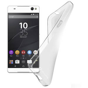 Husa Protectie Spate Cellularline Husa Capac spate Capac Spate Anti Shock Rubber Transparent SONY Xperia C5 Ultra