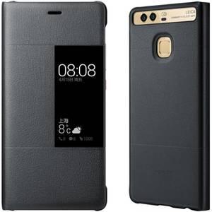 Husa Flip Cover Huawei P9 Husa Smart Cover Dark Gray