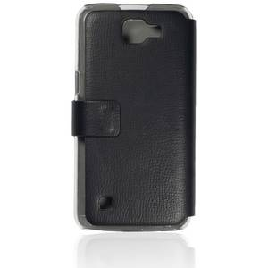 Husa Protectie Spate Just Must Book Slim Negru (silicon in interior) pentru LG K4