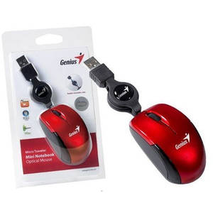 Mouse Genius Micro Traveler V2 USB Ruby