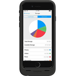 Husa cu incarcare Mophie Space Pack Black 64GB 3300 mAh pentru Apple iPhone 6 / 6S