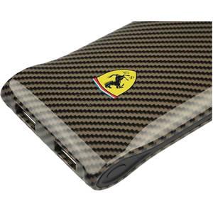 Acumulator extern Ferrari FECBEB50BL 5000 mAh Carbon Dual USB