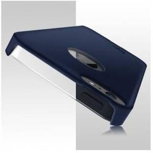 Husa Protectie Spate Ringke Slim SF Navy Logo Cut plus folie protectie display pentru iPhone 5/5s/SE