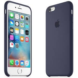 Husa Protectie Spate Apple Silicone Case Midninght Albastru pentru Iphone 6s
