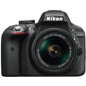 Aparat foto DSLR Nikon D3300 kit AF-P 18-55mm VR Black