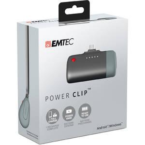 Acumulator extern Emtec Power Clip U400 2600 mAh microUSB Gray