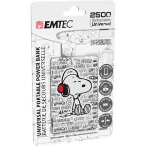 Acumulator extern Emtec Power Essentials Peanuts 2 Uni 2500 mAh