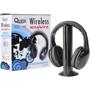 Casti Quer Wireless 5 in 1 Black