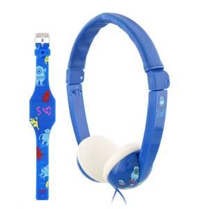 Casti TnB BUNKIDBL Bundle Kids plus Led Watch Blue