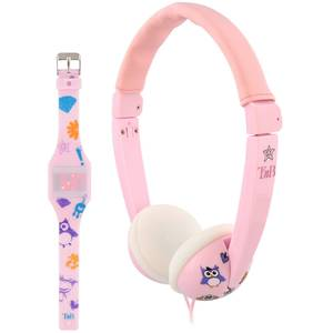 Casti TnB BUNKIDPK Bundle Kids plus Led Watch Pink
